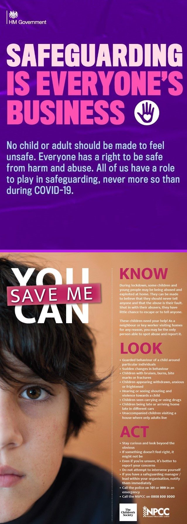 Combined Safeguarding / Children's Society poster